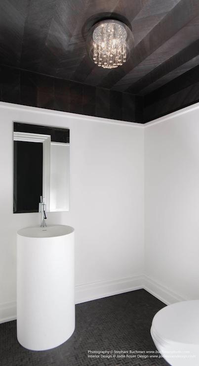 Herringbone Ceiling Contemporary Bathroom Buchman Photo