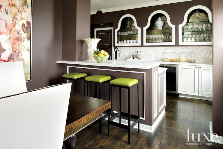 Mirrored Kitchen Backsplash Eclectic Kitchen Luxe
