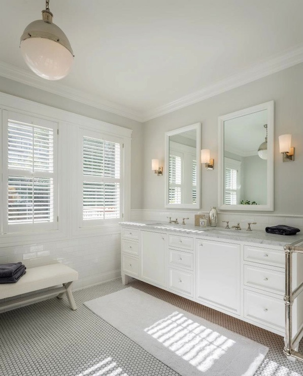 Benjamin Moore Intense White Contemporary Bathroom Benjamin Moore Intense White Sutro