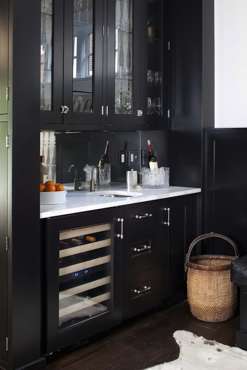 Black Butlers Pantry Transitional Dining Room Terracotta Studio