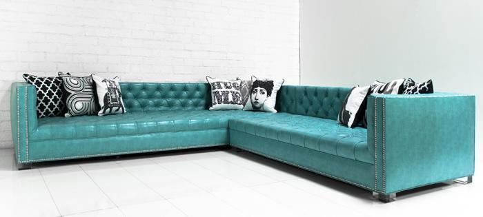 maverick turquoise faux leather