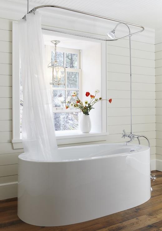 ceiling shower rail cottage
