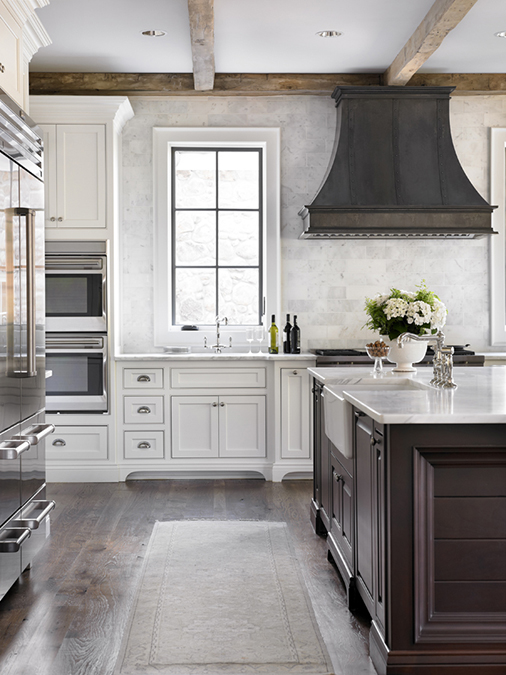 Zinc Kitchen Hood Transitional Kitchen L Kae Interiors