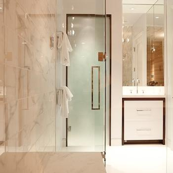 Frosted Glass Shower Contemporary Bathroom Farrell
