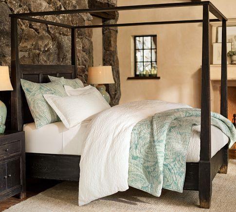 dawson canopy bed pottery barn