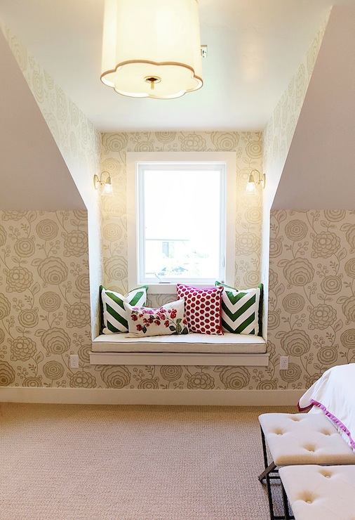 Girls Window Seat Contemporary Girls Room Utah