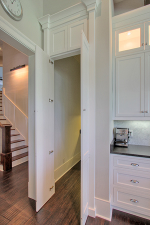 Hidden Pantry Traditional Kitchen Palmetto Cabinet Studio