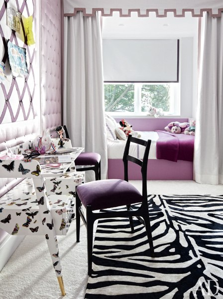 Built In Daybed Contemporary Girls Room