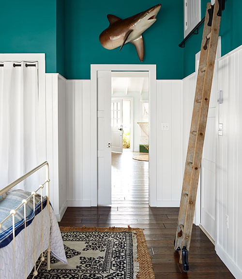 Peacock Blue Paint Colors Country Boys Room