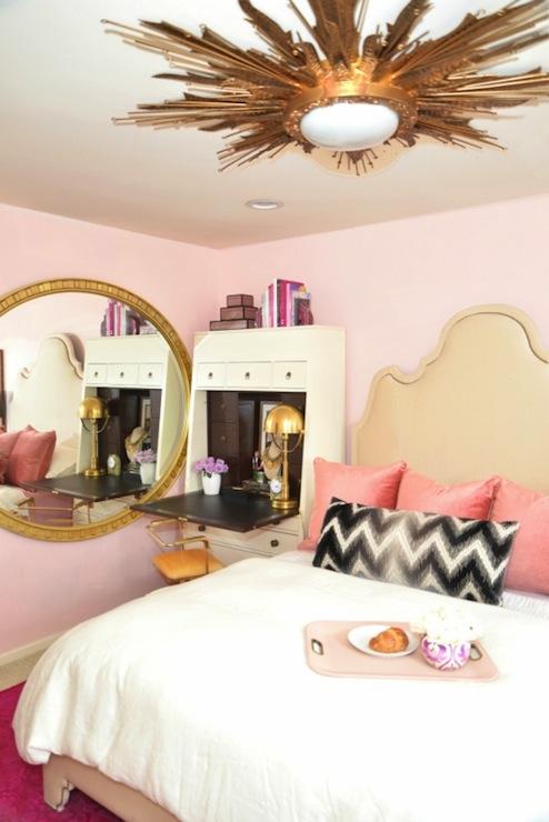 pink bedroom ideas eclectic bedroom