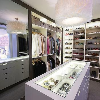 Walk In Closet With Built In Jewelry Display Case