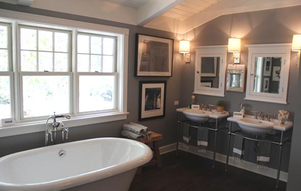 Dark Brown Paneled Tub Design Ideas