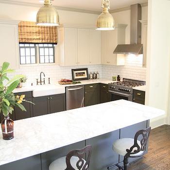 Gray Galley Kitchen Transitional Kitchen Devol Kitchens