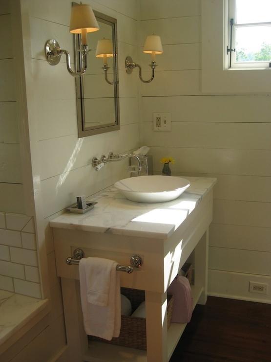 bowl vessel sink cottage bathroom