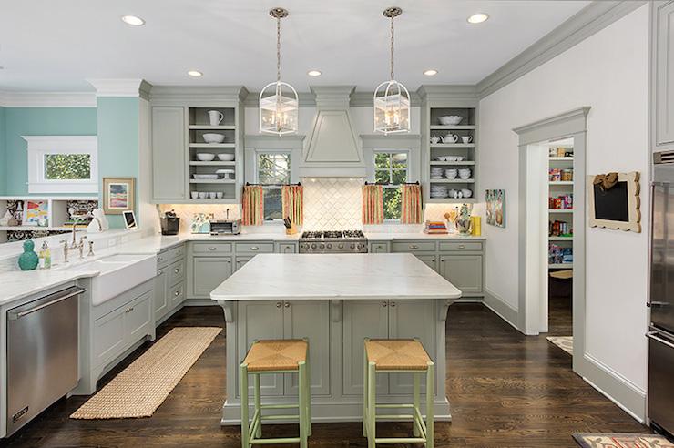 Grey Cabinets Contemporary Kitchen Benjamin Moore