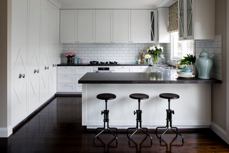 Kitchen Peninsula Ideas Transitional Kitchen Horton