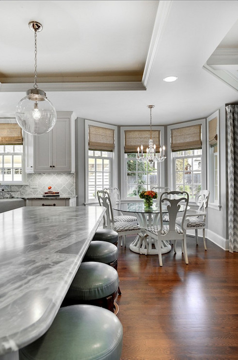 Bay Window Dining Nook Transitional Kitchen Janie