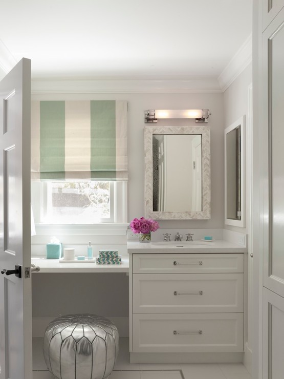 floating makeup vanity contemporary