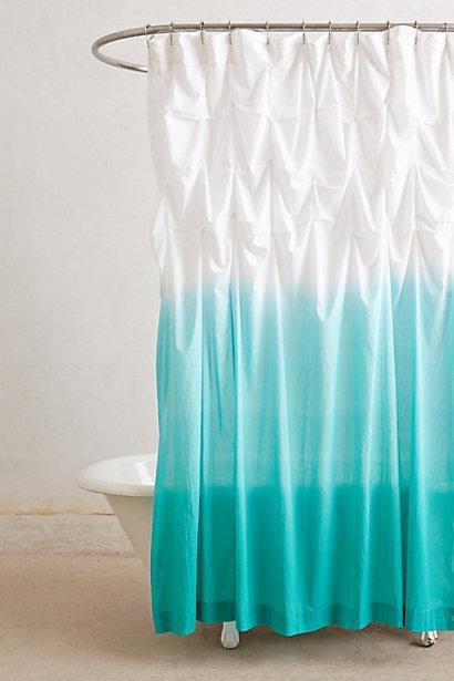 ocean blue white ombre ruffled shower