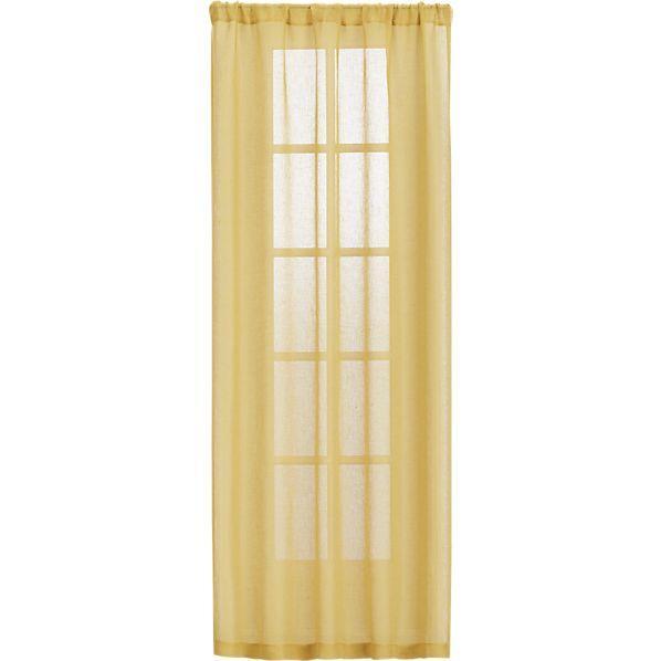 mustard yellow sheer curtain panels