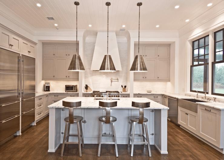 Light Gray Cabinets Contemporary Kitchen Benco Construction