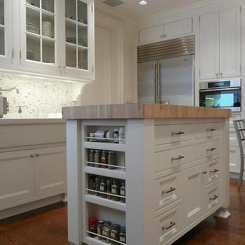 Island Spice Rack Transitional Kitchen The Renovated