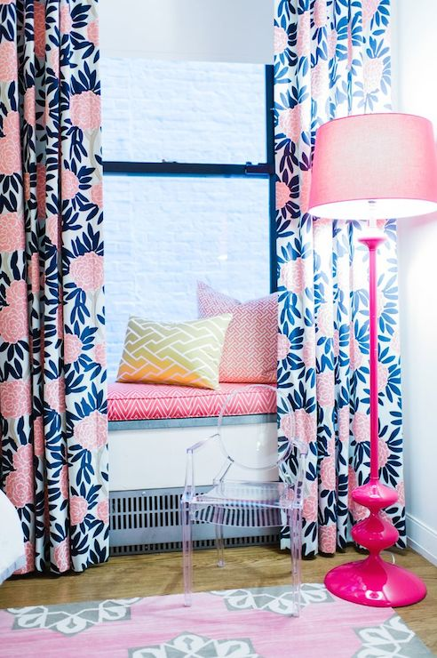 Kids Window Seat Contemporary Girls Room L Kate Interiors
