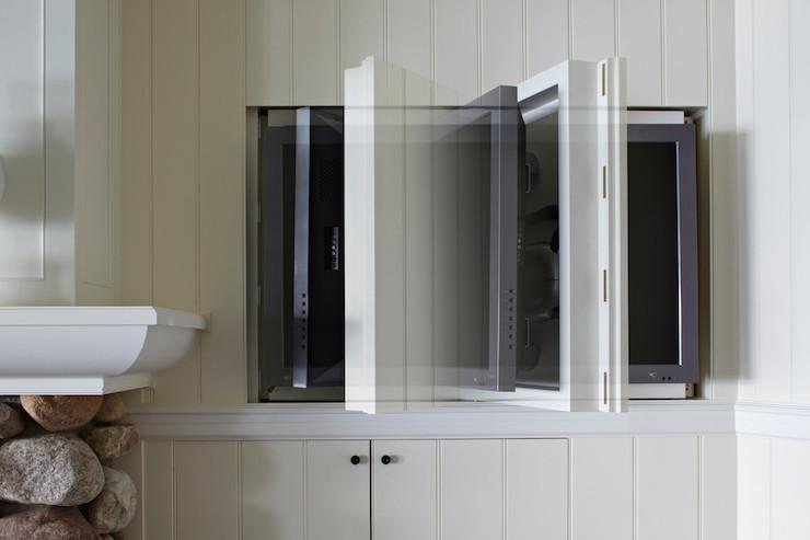 Concealed TV Cottage Living Room Benjamin Moore