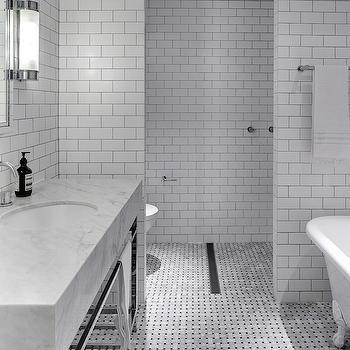 Brown Subway Tiles Contemporary Bathroom Jeff