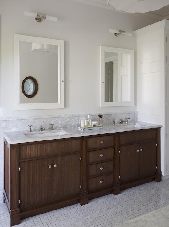 white framed medicine cabinet - traditional - bathroom - phoebe howard