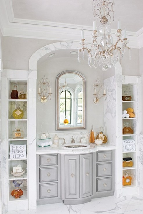 Arched Vanity Nook French Bathroom Betty Lou Phillips