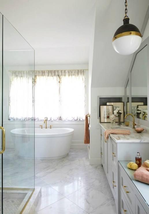 Brass Bathroom Fixtures Transitional Bathroom