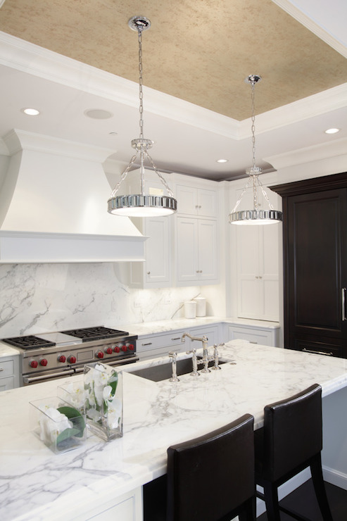 Kitchen Tray Ceiling Transitional Kitchen PLD Custom Homes