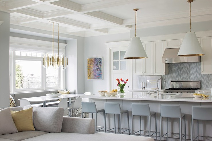 Gray Chevron Backsplash Contemporary Kitchen Terris