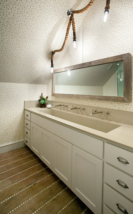 rope chandelier eclectic bathroom tracy hardenburg designs