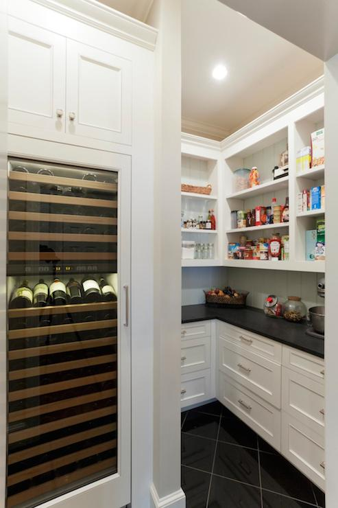 Integrated Wine Cooler Transitional Kitchen Advanced
