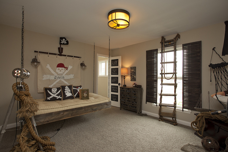 Pirate Themed Kids Room Eclectic Boys Room BIA
