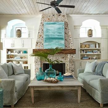 Cozy Living Room Cottage Living Room Thomas OBrien