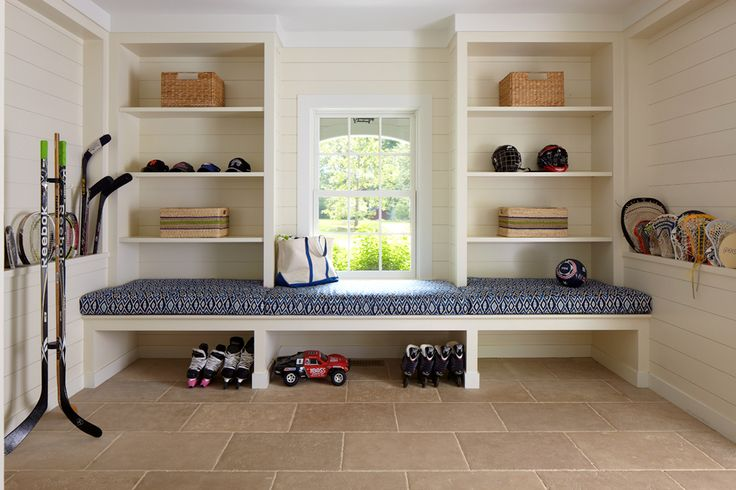 Built In Mudroom Bench Cottage Laundry Room Brooks