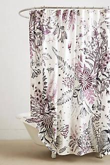 cornelis purple and black shower curtain