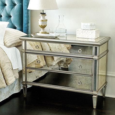 Addison Silver Mirrored 3 Drawer Chest