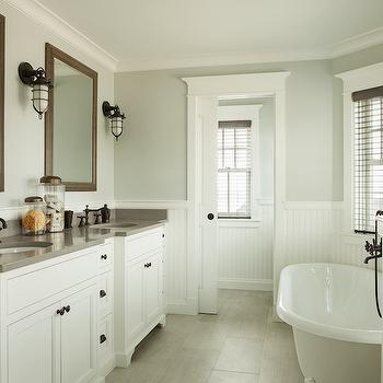 Gray Wisp Transitional Bathroom Benjamin Moore Gray