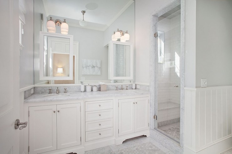 White And Grey Bathrooms Transitional Bathroom Rt