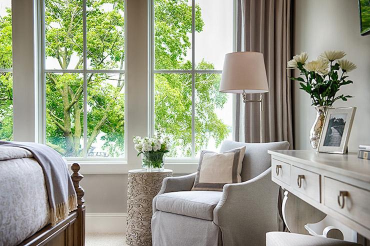 corner chair bedroom - traditional - bedroom - studio m interiors