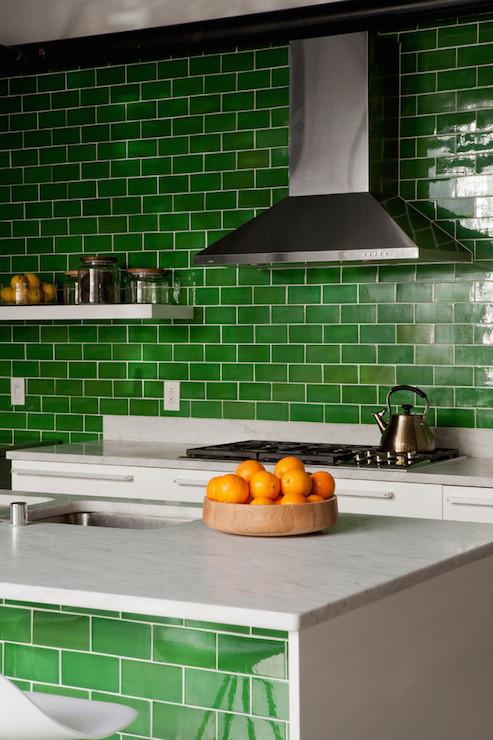 green subway tile design ideas