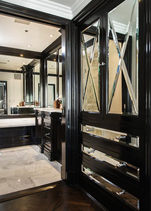 Mirrored Closet Cabinets Transitional Closet M