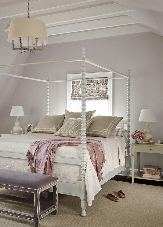Gray And Purple Bedrooms Transitional Bedroom Andrew Howard Interior Design