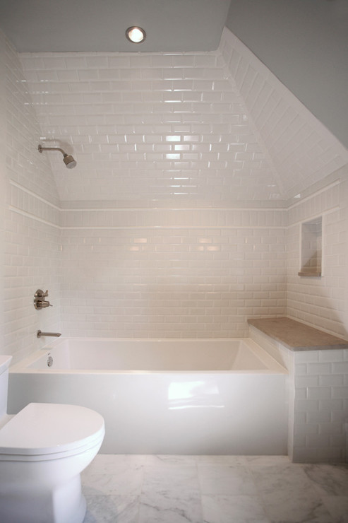 Dormer Shower Transitional Bathroom CR Home Design