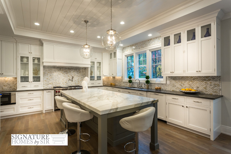 Shiplap ceiling kitchen Shiplap tray ceiling
