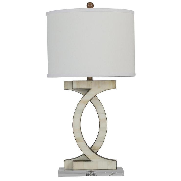 Gabby Lynden Antique Gold And White Table Lamp